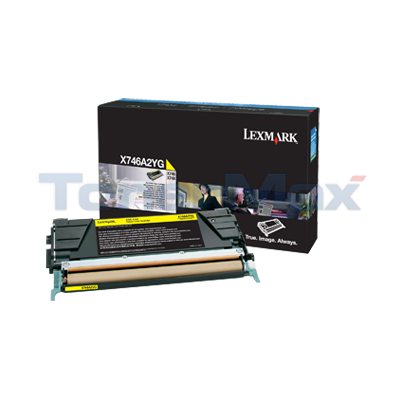 LEXMARK X746 TONER CARTRIDGE YELLOW